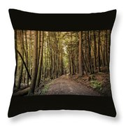 In The Forest Cathedral  Throw Pillow
