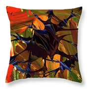 In The Forward Mind Abstract Throw Pillow