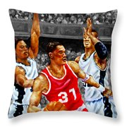 In The Game Throw Pillow