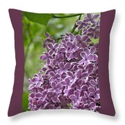 In The Garden. Lilac Throw Pillow