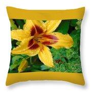 In The Garden Throw Pillow