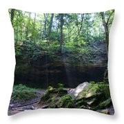 In The Garden Of The Rocks Throw Pillow