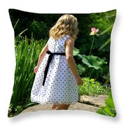 In The Gardens Throw Pillow by Linda Mishler