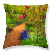 In The Gardens Throw Pillow