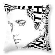 In The Ghetto Elvis Wordart Throw Pillow