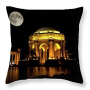 In The Glow Of The Supermoon Throw Pillow