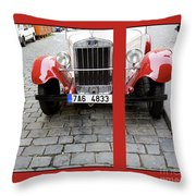 In The Good Old Days Throw Pillow