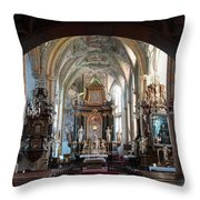In The Gothic-baroque Church Throw Pillow