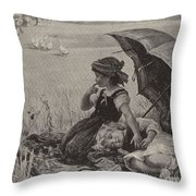 In The Harvest Field, Guardians Of The Luncheon Basket Throw Pillow