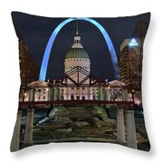 In The Heart Of St Louis Throw Pillow