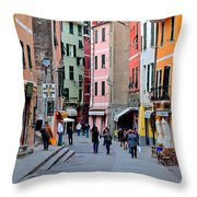 In The Heart Of Town Throw Pillow