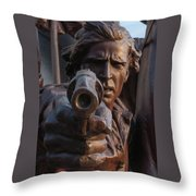 In The Heat Of Battle Throw Pillow
