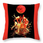 In The Heat Of The Night 2 Honeysuckle Red Moon Throw Pillow