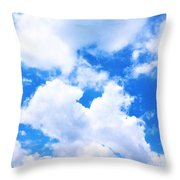 In The Heavens Above Throw Pillow