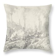 In The Land Of Iron And Steel Throw Pillow