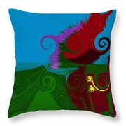 In The Land Of Suess Throw Pillow