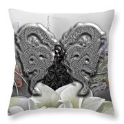 In The Land Of The Dragons Throw Pillow