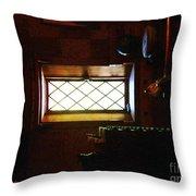 In The Lattice-windowed Attic Throw Pillow