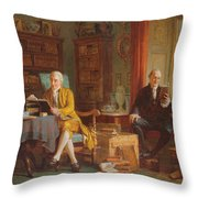 In The Library Throw Pillow