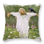 In The Lupines Throw Pillow
