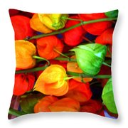 In The Market Throw Pillow
