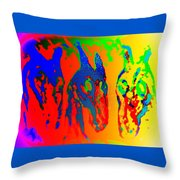 We Like To Sing A Song Whenever We Are In The Melancholic Corner   Throw Pillow