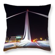 In The Middle Of The Speed Danger  Throw Pillow