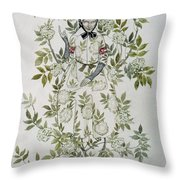 In The Midst Of A Tree Sat A Kindly Looking Old Woman' Throw Pillow