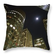 In The Midst Of The City Throw Pillow
