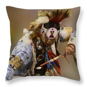 Pow Wow In The Moment Throw Pillow