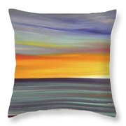 In The Moment Panoramic Sunset Throw Pillow