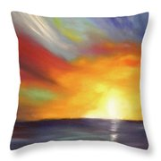 In The Moment - Vertical Sunset Throw Pillow