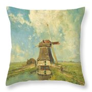 In The Month Of July Throw Pillow
