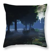 In The Moon Light  Throw Pillow