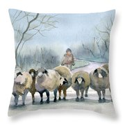 In The Morning Mist Throw Pillow