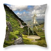 In The Mountains 22 Throw Pillow