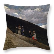 In The Mountains Throw Pillow