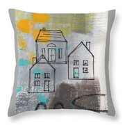 In The Neighborhood Throw Pillow