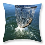 In The Net Throw Pillow