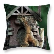 In The Nut House Throw Pillow