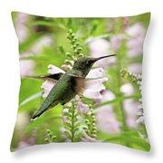 In The Obedient Garden Throw Pillow