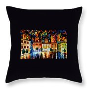In The Old City Throw Pillow