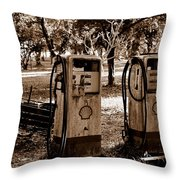 In The Old Days... Throw Pillow