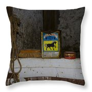In The Old Horse Barn Throw Pillow