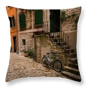In The Old Town Throw Pillow