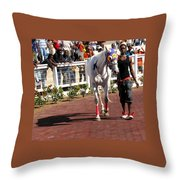 In The Paddock Throw Pillow