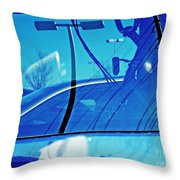In The Parking Lot 2 Throw Pillow