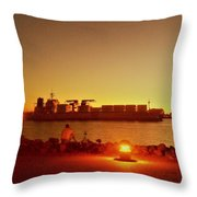 In The Pier Throw Pillow