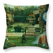 In The Plesaunce Throw Pillow