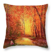 In The Presence Of Light Meditation Throw Pillow